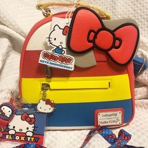 Hello Kitty 45th Loungefly backpack & lanyard